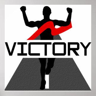 Poster para hombre del corredor de la victoria