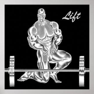 Poster para hombre del levantamiento de pesas