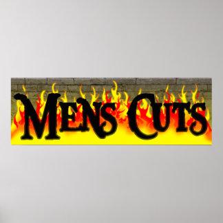 Poster para hombre del salón del corte de pelo