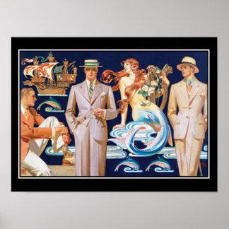 Poster para hombre del vintage de la moda del art