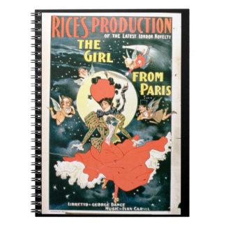 Poster para la 'producción del arroz del chica del libro de apuntes