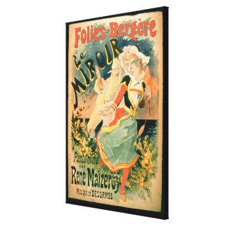 """Poster para """"Le Miroir"""" en el Folies-Bergere, un P Impresión En Lienzo"""