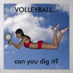 Poster para mujer del voleibol