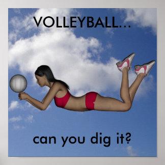 Poster para mujer del voleibol póster