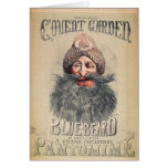 Poster para una pantomima del navidad tarjeta