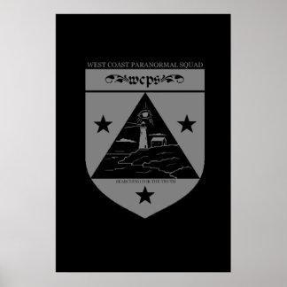 Poster paranormal del logotipo del pelotón de la c