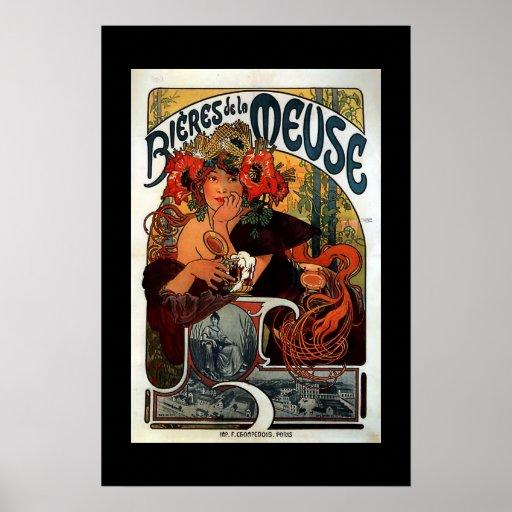 Poster París del anuncio del vintage
