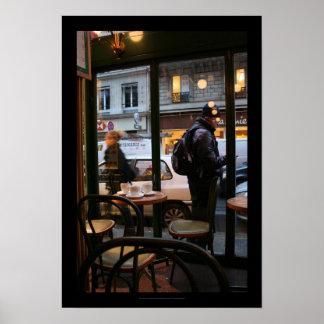 Poster parisiense de Rambuteau Beaubourg de la