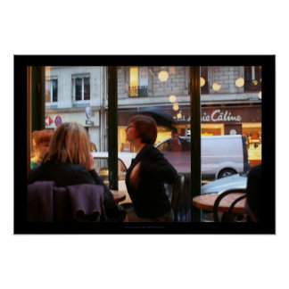 Poster parisiense de Rambuteau de la ruda de