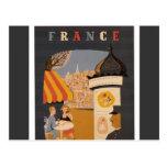 Poster parisiense del viaje del café postal