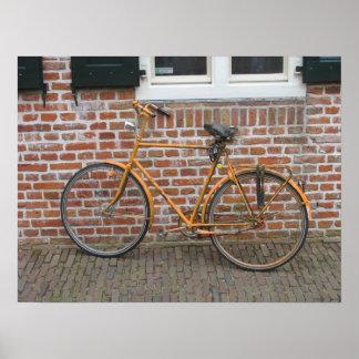 Poster parqueado bicicleta pintado de la foto