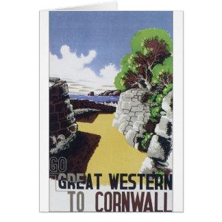 Poster pasado de moda Great Western del viaje Tarjeta De Felicitación