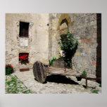 Poster - patio aislado en Monteriggioni