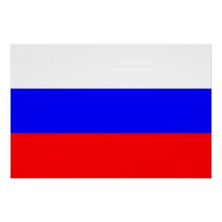 Poster patriótico con la bandera de Rusia Perfect Poster