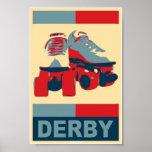 Poster patriótico de Derby del arte pop