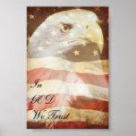 Poster patriótico de Eagle