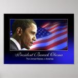 Poster (patriótico) de presidente Barack Obama