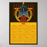 Poster patriótico del calendario de la insignia 20