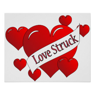 Poster pegado amor