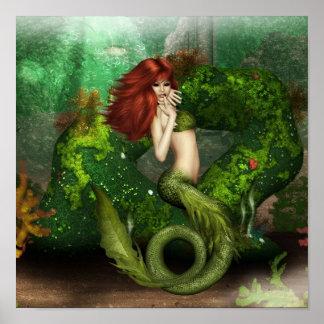 Poster pelirrojo de la sirena