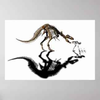 Poster penetrante del dinosaurio