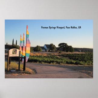 Poster: Penman Springs Vineyard, Paso Robles, CA