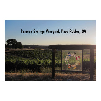 Poster: Penman Springs Vineyard, Paso Robles, CA Poster
