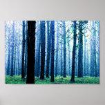Poster penoso profundo de maderas