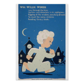 Poster PEQUENITO 1940 del proyecto del arte de WPA