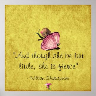 Poster pequeño y feroz de la mariposa de
