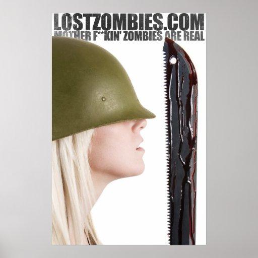 Poster perdido de los zombis MFZAR de Jesse Bodas