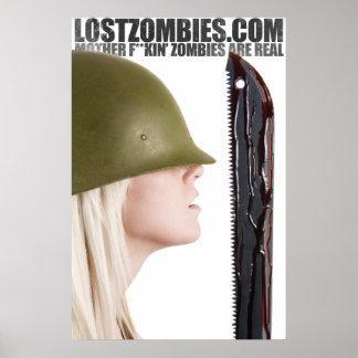 Poster perdido de los zombis MFZAR de Jesse Bodas Póster