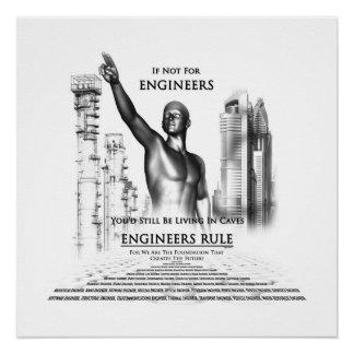 Poster perfecto de la regla de los ingenieros perfect poster