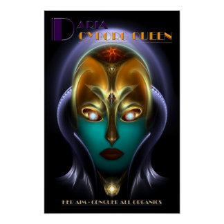 Poster perfecto de la reina del Cyborg de Daria Perfect Poster