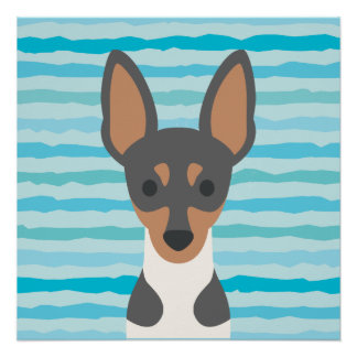Poster perfecto del fox terrier liso perfect poster