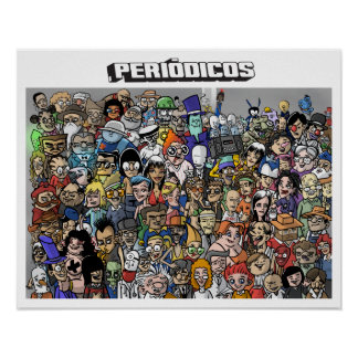 Poster Periódicos Personagens