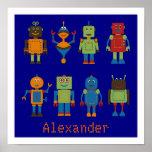 Poster personalizado amigos de los niños del robot