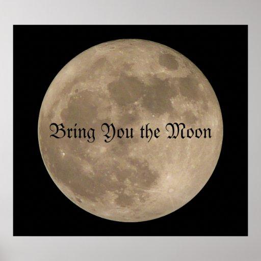 Poster personalizado astronomía de la Luna Llena d