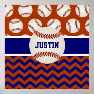 Poster personalizado béisbol