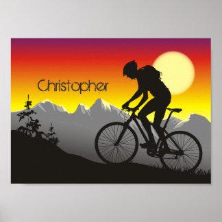 Poster personalizado de la bici de montaña de la s