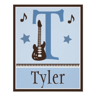 Poster personalizado de la música de la guitarra d póster