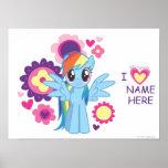 Poster personalizado de la rociada del arco iris