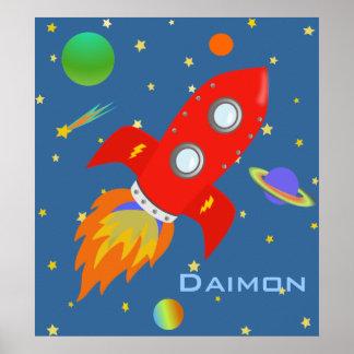 Poster personalizado del explorador de espacio