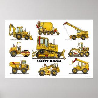 Poster personalizado del material de construcción