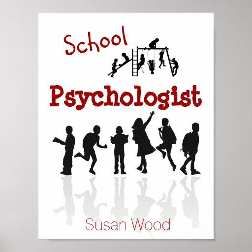 Poster personalizado del psicólogo de la escuela