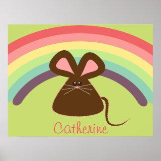 Poster personalizado del ratón de los niños