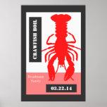 Poster personalizado estilo retro de los cangrejos