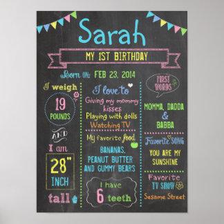 Poster personalizado fiesta del cumpleaños de la