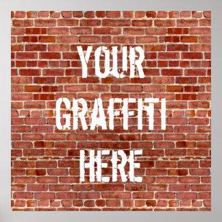 Poster personalizado pared de ladrillo del persona