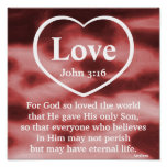 Poster-Personalizar del regalo del amor de dios